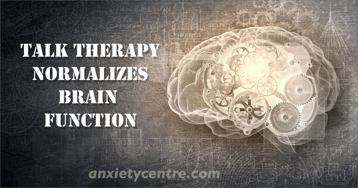 talk therapy normalizes brain function University of Zurich research finds