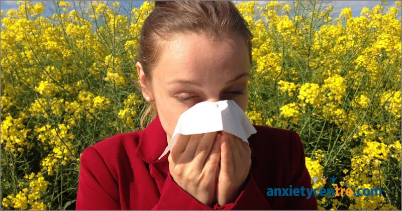 anxiety allergies symptoms
