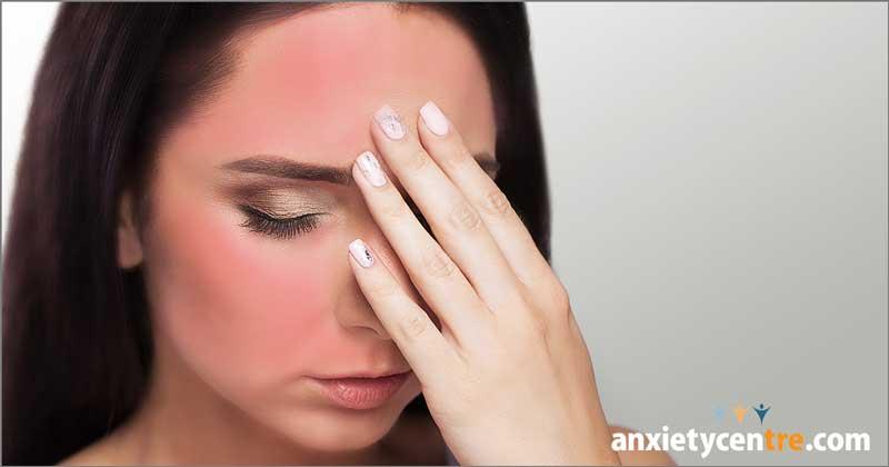 blushing flushing turning red anxiety symptoms