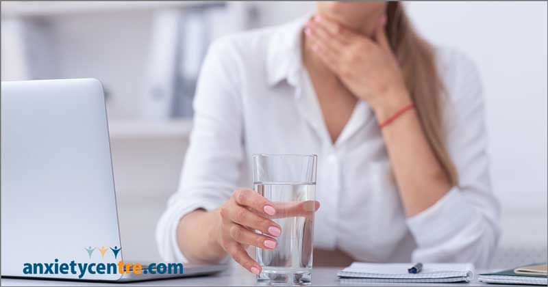 anxiety chronic throat clearing symptoms